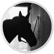 Dark Horse Round Beach Towel