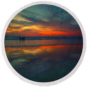 Dark Memories Round Beach Towel