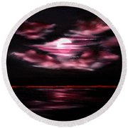 Dark Moon Arising Sold Round Beach Towel