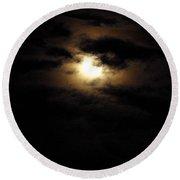 Dark Moon Round Beach Towel