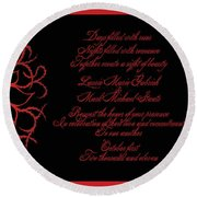 Dark Nights Bright Days Wedding Invitaion Round Beach Towel