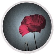 Dark Remembrance Round Beach Towel