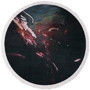 Dark Serie, I Round Beach Towel by Daniel Hannih