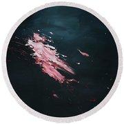 Dark Serie, Iv Round Beach Towel by Daniel Hannih