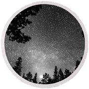 Dark Stellar Universe Round Beach Towel