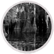 Dark Water Round Beach Towel