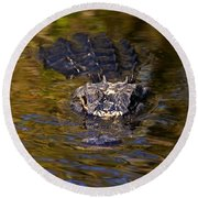 Dark Water Predator Round Beach Towel