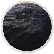 Dark Water Round Beach Towel