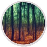 Dark Woods Round Beach Towel