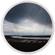 Darker Days Round Beach Towel