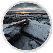 Darkness Falls Round Beach Towel