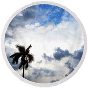 Darkness Moving In Round Beach Towel