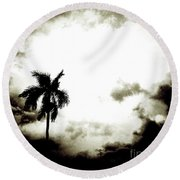 Darkness Moving In Extreme Round Beach Towel