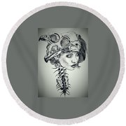 Darkness Of Women Round Beach Towel