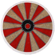 Dart Board Round Beach Towel