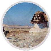 Darth Sphinx 2 Round Beach Towel