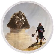 Darth Sphinx 3 Round Beach Towel