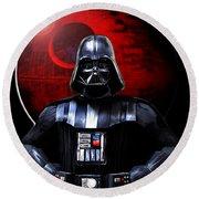 Darth Vader And Death Star Round Beach Towel