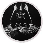 Darth Vader Round Beach Towel by Don Medina