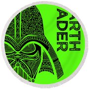 Darth Vader - Star Wars Art - Green Round Beach Towel