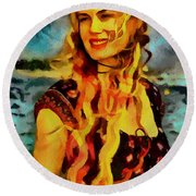 Daryl Hannah Collection - 1 Round Beach Towel