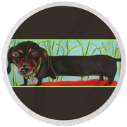 Dash Hound Round Beach Towel