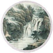 Dashan Waterfall Round Beach Towel