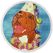Date With Paint Feb 19 Kayna Round Beach Towel