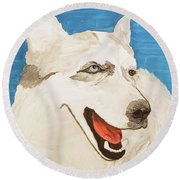 Date With Paint Feb 19 Layla Round Beach Towel