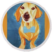 Date With Paint Feb 19 Rafee Round Beach Towel