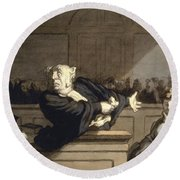 Daumier: Advocate, 1860 Round Beach Towel
