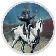 Daumier: Quixote, 19th C Round Beach Towel