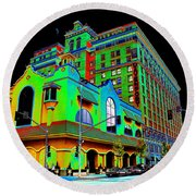 Davenport Hotel Downtown Spokane Round Beach Towel