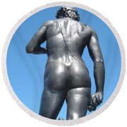 David Buttocks Round Beach Towel