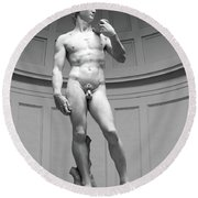 David By Michelangelo Round Beach Towel