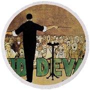 David Devant Poster C1910 Round Beach Towel
