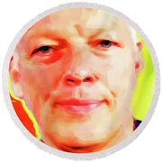 David Gilmour # 001 Nixo Round Beach Towel