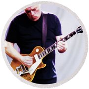 David Gilmour By Nixo Round Beach Towel