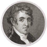 David Humphreys,1752 To 1818 Round Beach Towel