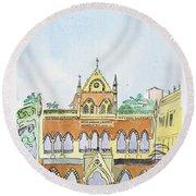 David Sasson Library Mumbai Round Beach Towel