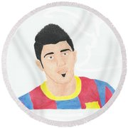 David Villa Round Beach Towel