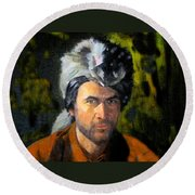 Davy Crockett Round Beach Towel