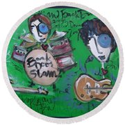 Davy Knowles And Back Door Slam Round Beach Towel