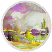 Dawn 03 Round Beach Towel