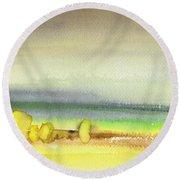 Dawn 13 Round Beach Towel