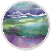 Dawn 14 Round Beach Towel