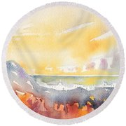 Dawn 21 Round Beach Towel