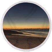 Dawn And The Sea Round Beach Towel