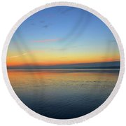 Dawn At Kempenfelt Bay Five  Round Beach Towel