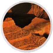 Dawn At The Grand Canyon Round Beach Towel